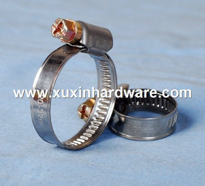 9mm Stainless steel band and galvanized steel nut German hose clamp