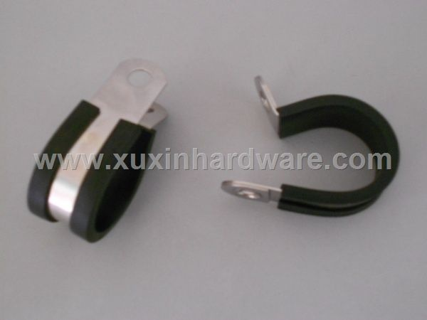 Cushioned hose clamp