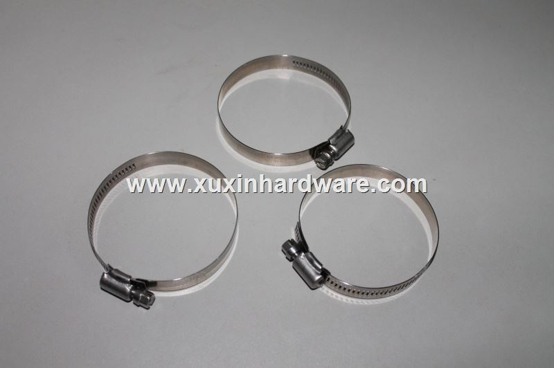 Zebra 300series stainless steel slotted band hose clamp