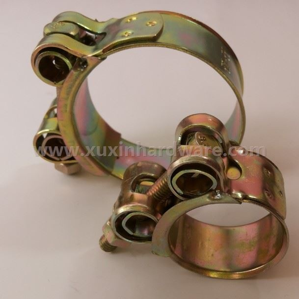 Galvanized iron robust hose clamp pipe clamp