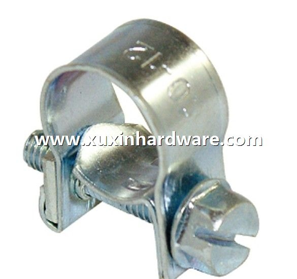 Galvanzied mini 1 bolt pipe clamps clips