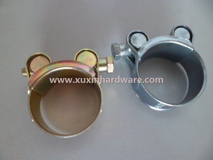 heady duty hose clamp with solid bolt