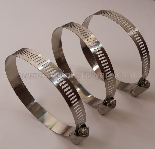 Pretty American type hose clamp