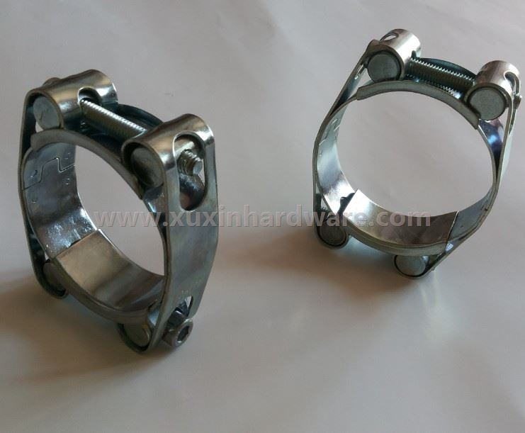 galvanized steel T  bolt hose clamps