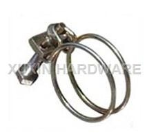 double wire stainless steel tube clamp, hose clamp, pipe clip