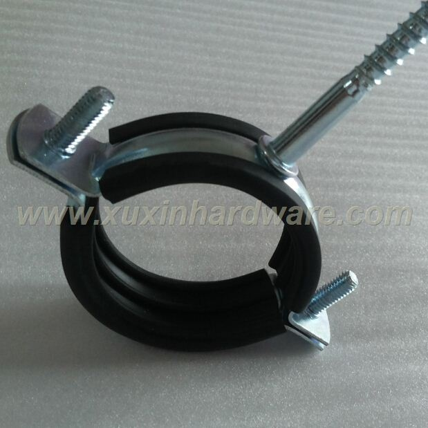 Standard Pipe Clamp With/Without Rubber Profile With Wood Screw