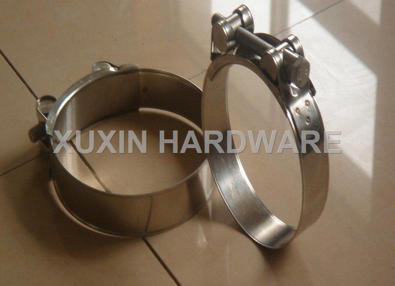 stainless steel T type high strength hose clamp