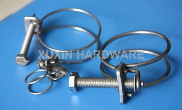 double wire hose clamps &clips