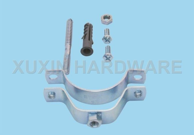 pipe clamp with hanger bolt and plug
