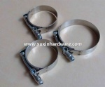heavy duty spring loaded T-bolt clamps