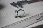 Embossed worm drive hose clamp