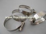 12.7mm bandwidth American type hose clamp for gas hoses