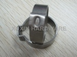 Galvanized steel single ear stepless hose clamp