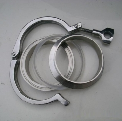 Stainless steel heavy duty clamp / Sanitary clamp ferrule