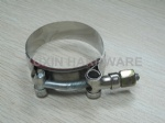 stainless steel constant tension pipe clips , hose clamps