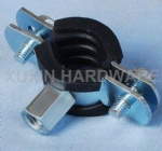 heavy duty standard pipe clamp with rubber