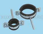 cushioned hose clamp with hanger bolt and welded screw